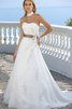 Strapless Sashes Flowers Beading Floor Length Wedding Dress - 1