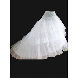 Elegant | Modest Dramatic Brush Train A Line | Princess Crinolines
