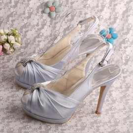 Platform Drama Heels Actual Heel Height 5.12 Inch Wedding Shoe