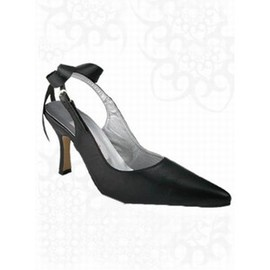 With High Heels Genuine Leather Pointed Fine With Bride Schu
