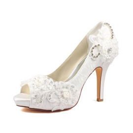 Actual Heel Height 3.94 Inch Heels Classic Platform Wedding Shoe