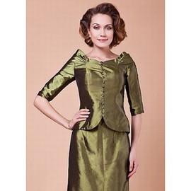 Taffeta As The Photo Elegant | Modest Pleats Bolero