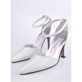 With Satin High Fine Pointed With Bridal Shoe