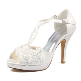 Actual Heel Height 3.94 Inch Heels Formal Platform Wedding Shoe