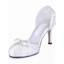 With High Fine Satin Bridal Shoe With Heels