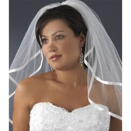 Simple Short Casual Bridal Veil