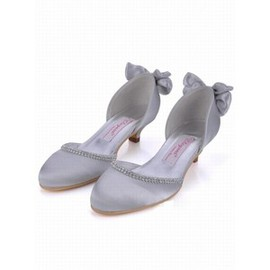 With Satin Bridal Shoe With Round Rau