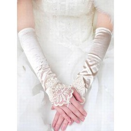 Satin Elegant | Modest Ivory Elegant | Modest Bridal Gloves