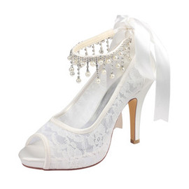 Platform Elegant Actual Heel Height 3.94 Inch Heels Wedding Shoe