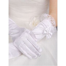 Taffeta With Application White Chic | Modern Bridal Gloves