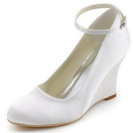 Actual Heel Height 3.15 Inch Wedges Spring Summer Eternal Wedding Shoe