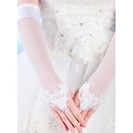 Lace Elegant | Modest White Elegant | Modest Bridal Gloves