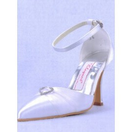 High With Satin Fine With Fine Bridal Shoe