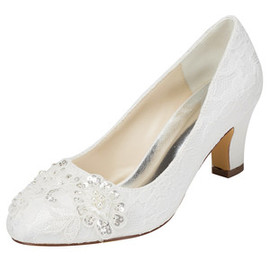 Modern Summer Actual Heel Height 2.36 Inch Bridal Shoe