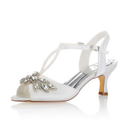 Actual Heel Height 2.36 Inch Eternal Autumn Bridal Shoe