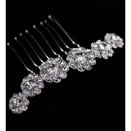 With Crystal Luxurious Beautiful Bridal Jewelry