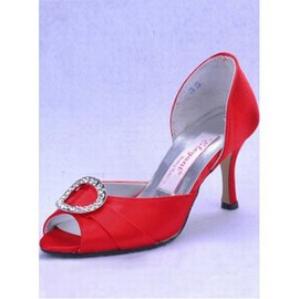 With High Fine Satin Fish Head With Bridal Shoe