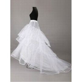 Tiered Eye Catching Chapel Train Princess Crinolines