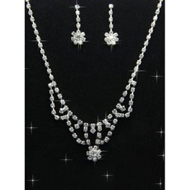 With Crystal Beautiful Luxurious Bridal Jewelry