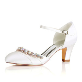 Actual Heel Height 2.56 Inch Formal Summer Bridal Shoe