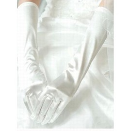 Satin Simple White Elegant | Modest Bridal Gloves