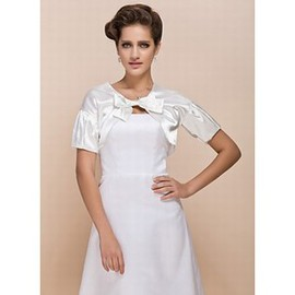 Taffeta White Chic | Modern With Bowknot Bolero
