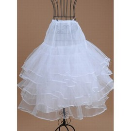 Dramatic Tiered Tea-Length A Line | Princess Crinolines