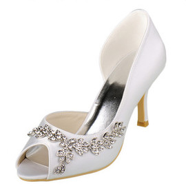 Romantic Actual Heel Height 3.54 Inch Heels Autumn Winter Bridal Shoe