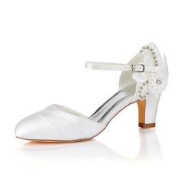 Actual Heel Height 2.56 Inch Autumn Winter Drama Bridal Shoe