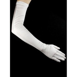 Taffeta Simple White Timeless Bridal Gloves
