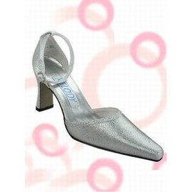 High-heeled Satin Bridal Shoe With Pointed Rau