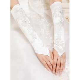 Satin With Application Chic Bridal Gloves