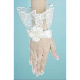 Tulle Floral White Chic | Modern Bridal Gloves