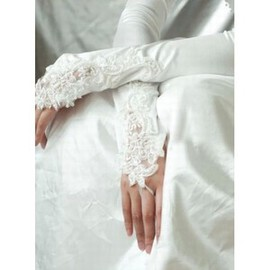 Satin Elegant | Modest White Elegant | Modest Bridal Gloves