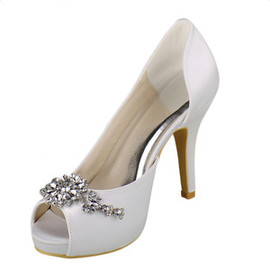 Romantic Heels Platform Actual Heel Height 3.94 Inch Wedding Shoe