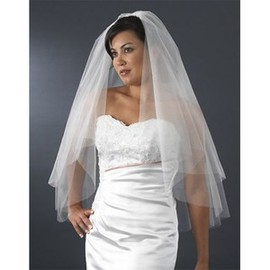 Short Simple Casual Bridal Veil