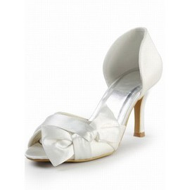 High-heeled Satin Bridal Shoe