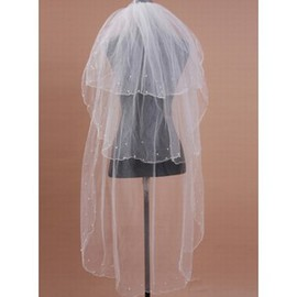 Beading Vintage Short Wedding Veil