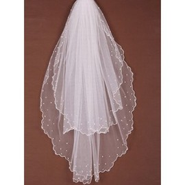 Beading Timeless Short Wedding Veil
