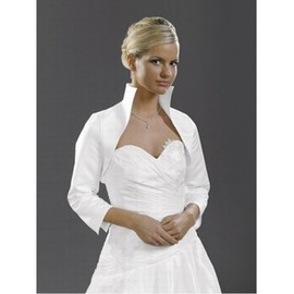 Taffeta White Elegant Simple Bolero