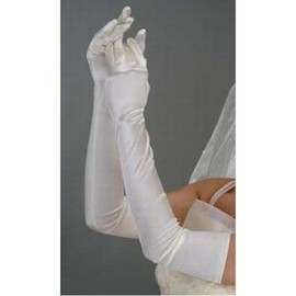Simple Taffeta White Vintage | Timeless Bridal Gloves