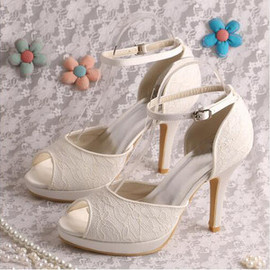 Actual Heel Height 3.94 Inch Platform Modern Heels Wedding Shoe