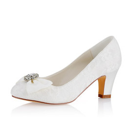 Winter Drama Actual Heel Height 2.56 Inch Bridal Shoe