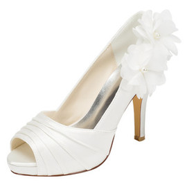 Platform Height 0.59 Inch Platform Heels Romantic Wedding Shoe