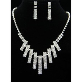 Cheap Modern Crystal Bridal Jewelry