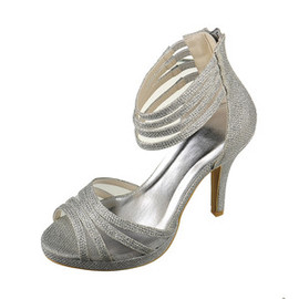 Heels Actual Heel Height 3.94 Inch Elegant Platform Bridal Shoe