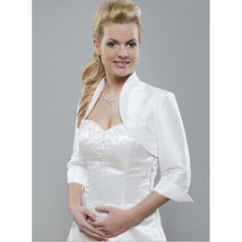 Taffeta White Chic Simple Bolero