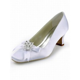 With Satin Square Head Rough With Bridal Shoe