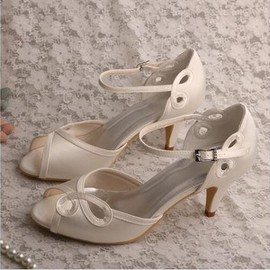 Actual Heel Height 2.56 Inch Luxury Summer Bridal Shoe