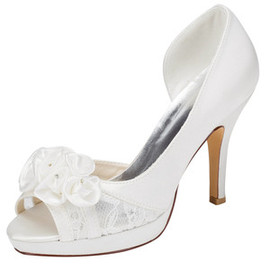 Actual Heel Height 3.94 Inch Platform Heels Charming Wedding Shoe
